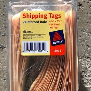 Avery Shipping Tags Reinforced Hole Manila Pack Of